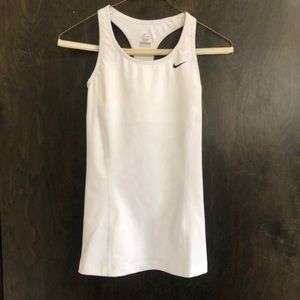 White Nike Dri-fit tank!